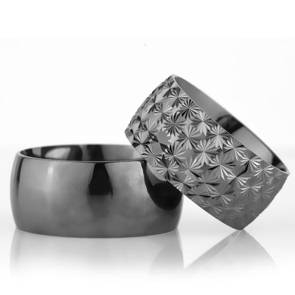 10Mm Klasik Bombeli Gümüş Alyans Çifti Bkl108
