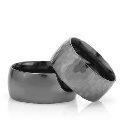 10Mm Klasik Bombeli Gümüş Alyans Çifti Bkl113 - Thumbnail