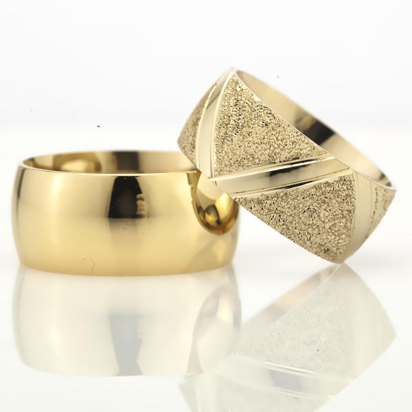 10Mm Klasik Bombeli Gümüş Alyans Çifti Bkl118