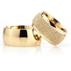 10Mm Klasik Bombeli Gümüş Alyans Çifti Bkl119 - Thumbnail