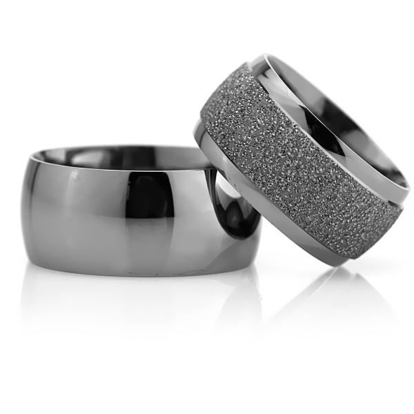 10Mm Klasik Bombeli Gümüş Alyans Çifti Bkl119