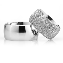 10Mm Klasik Bombeli Gümüş Alyans Çifti Bkl121 - Thumbnail