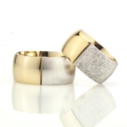 10Mm Klasik Bombeli Gümüş Alyans Çifti Bkl122 - Thumbnail