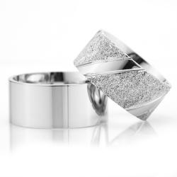 10Mm Klasik Düz Gümüş Alyans Çifti Dkl104 - Thumbnail