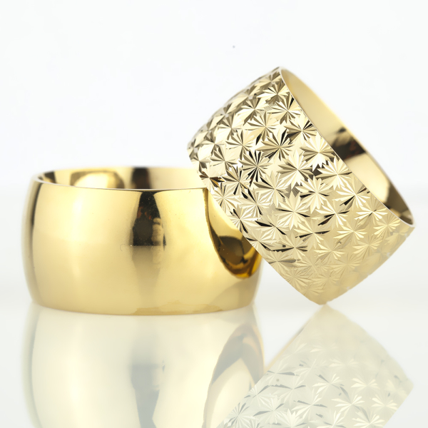 12Mm Klasik Bombeli Gümüş Alyans Çifti Bkl108