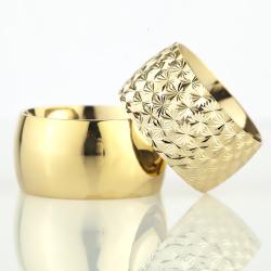 12Mm Klasik Bombeli Gümüş Alyans Çifti Bkl108 - Thumbnail