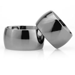12Mm Klasik Bombeli Gümüş Alyans Çifti Bkl117 - Thumbnail