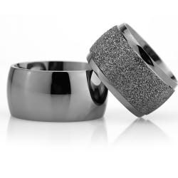 12Mm Klasik Bombeli Gümüş Alyans Çifti Bkl119 - Thumbnail
