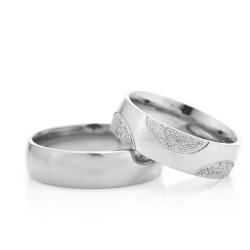 6Mm Klasik Bombeli Gümüş Alyans Çifti Bkl107 - Thumbnail