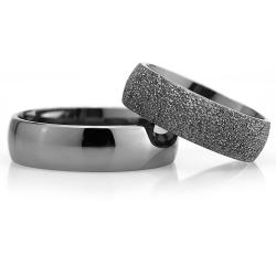 6Mm Klasik Bombeli Gümüş Alyans Çifti Bkl121 - Thumbnail