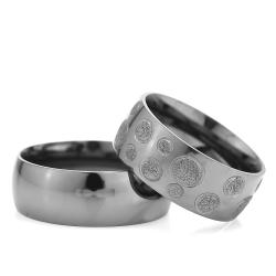 8Mm Klasik Bombeli Gümüş Alyans Çifti Bkl101 - Thumbnail