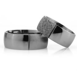 8Mm Klasik Bombeli Gümüş Alyans Çifti Bkl103 - Thumbnail