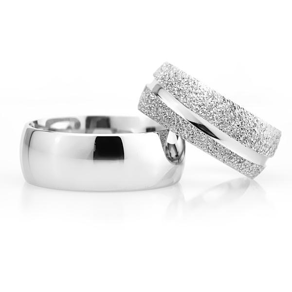 8Mm Klasik Bombeli Gümüş Alyans Çifti Bkl109