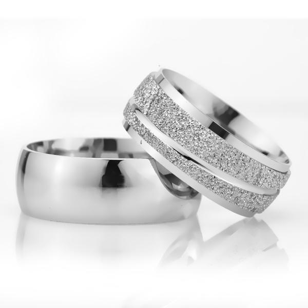 8Mm Klasik Bombeli Gümüş Alyans Çifti Bkl125