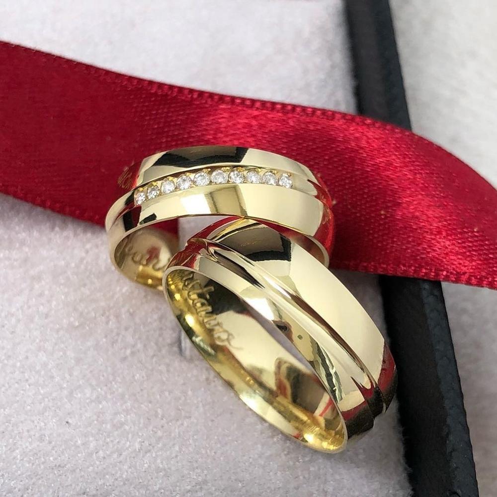 Altın Kaplama Gümüş Alyans Modelleri Gka103