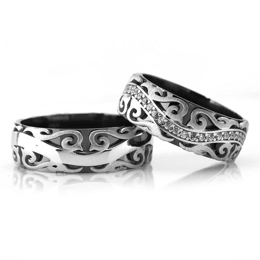 Çift Gümüş Alyans Modelleri Pd104