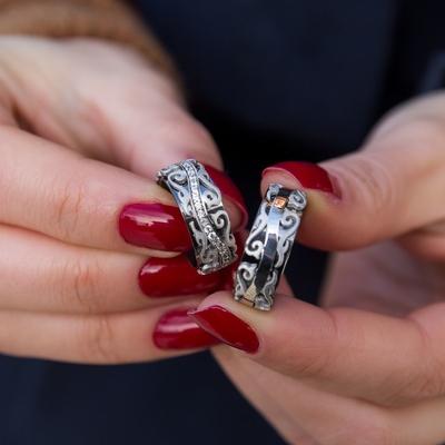 Çift Gümüş Alyans Modelleri Pd104 - Thumbnail