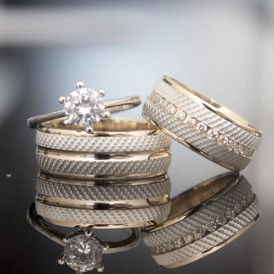 İşlemeli Zemin Altın Kaplama Gümüş Alyans Dc104 - Thumbnail