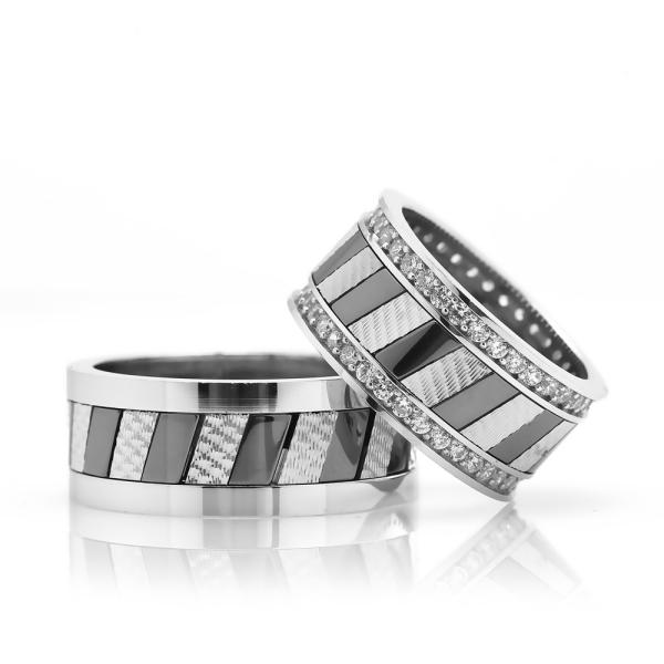 Modern Ve Şık Gümüş Alyans Ra121