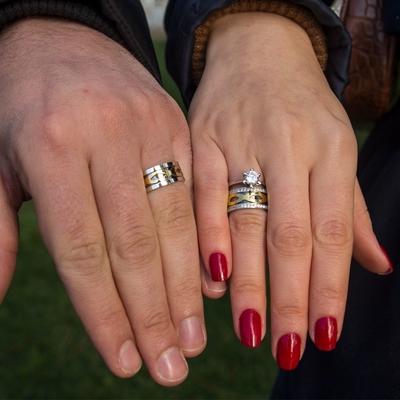 Sonsuzluk Motifli Çift Gümüş Alyans Pd105 - Thumbnail